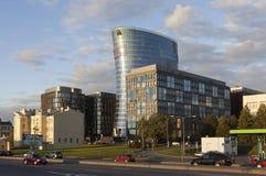 ST ПЕТЕРБУРГ, РОССИЯ - AUGUST14, 2015: Фото взгляда делового центра Стоковые Фото