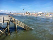 St Питер-Ording пляжа Стоковые Фото