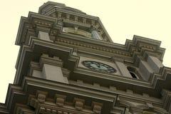St Роза башни с часами собора Лимы Стоковые Фото