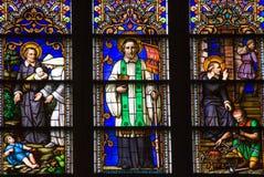 st святой patrick peter s стекла собора запятнал Стоковая Фотография RF