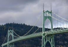 st США john Орегона portland s моста стоковое изображение