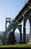 st США john Орегона portland s моста Стоковое Фото