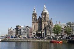 St, церковь Николаса, Амстердам Стоковые Фотографии RF