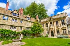 St Эдмунд Hall, коллеж, Оксфордский университет, Cotswolds, Англия Стоковые Фотографии RF