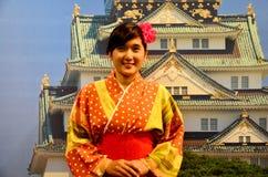 St японца платья кимоно тайской женщины путешественника нося традиционный Стоковые Фото