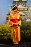 St японца платья кимоно тайской женщины путешественника нося традиционный Стоковая Фотография