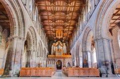 St.戴维兹大教堂,威尔士,英国 图库摄影