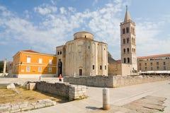 st.多纳特在扎达尔,克罗地亚教会  免版税库存图片