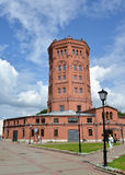 ST 彼得斯堡俄国 一个老的水塔- 免版税图库摄影
