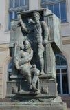 ST 彼得斯堡俄国 巨大战争`,关闭俄国卫兵的纪念碑  免版税库存图片
