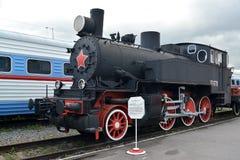 ST 彼得斯堡俄国 德国TT-1770煤水柜机车(战利品三公园)花费在平台 免版税库存图片