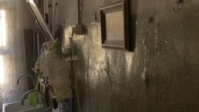 ST 彼得斯堡,俄罗斯,一层共同舱内甲板的老厨房 影视素材
