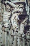 ST 彼得斯堡,俄罗斯- 2015年7月:艺术和文化的概念 雕刻详细的看法 美好的古色古香的雕塑 免版税库存照片