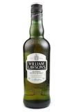 ST 彼得斯堡,俄罗斯- 2015年12月26日:威廉劳森` s,被混和的苏格兰威士忌酒,苏格兰 免版税库存照片