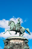 ST 彼得斯堡,俄罗斯- 2015年7月26日:对皇帝Nich的纪念碑 图库摄影