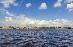 ST 彼得斯堡,俄罗斯- 2016年7月31日:彼得Pavel's堡垒照片  免版税图库摄影
