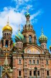 ST 彼得斯堡,俄罗斯- 2015年7月26日:救主的教会 库存图片