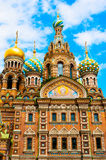 ST 彼得斯堡,俄罗斯- 2015年7月26日:救主的教会 库存照片