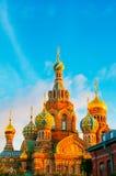 ST 彼得斯堡,俄罗斯- 2015年7月26日:救主的教会 免版税库存照片