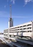 ST 彼得斯堡,俄罗斯- 2013年3月16日:海洋驻地海港大厦在行军的16日港口2013年在圣彼德堡,拉斯 免版税库存图片