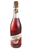 ST 彼得斯堡,俄罗斯- 2015年12月12日:瓶Lambrusco Rosato Amabile,瓦尔Calda,意大利 库存照片