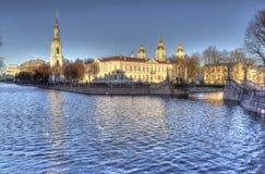 ST 彼得斯堡,俄罗斯- 2015年12月8日:Semimostye照片  免版税库存照片