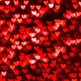 St.情人节红色心脏背景 免版税图库摄影