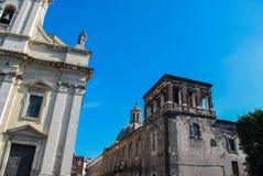 St巴巴拉广场在Paterno 西西里岛 图库摄影