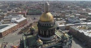 St以撒圣彼德堡空中射击` s大教堂  股票视频