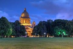 St以撒的大教堂,圣彼德堡,俄罗斯 免版税图库摄影