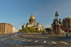 St以撒的广场在圣彼得堡 免版税库存照片