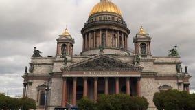 St以撒` s大教堂-最大的东正教在圣彼德堡 影视素材