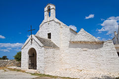 St.玛丽亚di Barsento Church。Noci。普利亚。意大利。 免版税图库摄影