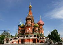 St.红场的蓬蒿的大教堂, (维尔京的保护的大教堂垄沟的) 免版税图库摄影