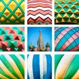 St.蓬蒿大教堂。 红场在莫斯科,俄国。 免版税库存图片