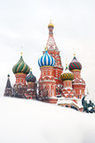 St.蓬蒿大教堂,红场,莫斯科,俄国。 库存照片