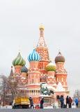 St.蓬蒿大教堂,红场,莫斯科,俄罗斯。联合国科教文组织世界他 免版税库存图片