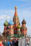St.蓬蒿大教堂,红场,莫斯科,俄罗斯。 免版税库存照片