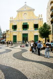 St.西班牙托钵僧的教会,澳门 免版税图库摄影