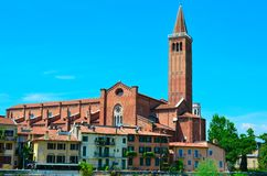 St.阿纳斯塔西娅大教堂在维罗纳 库存图片