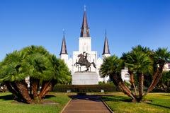 大教堂有历史的路易斯・新奥尔良st 库存图片