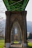 在桥梁约翰斯st之下 免版税库存照片