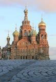 血液彼得斯堡俄国救主溢出的st 库存照片