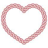 Κελτική μορφή καρδιών σχεδίων κόκκινη - αγαπήστε την ημέρα του ST Πάτρικ έννοιας fot, βαλεντίνοι Στοκ Εικόνες