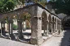 St abandonné Emilion, France de cloître image libre de droits