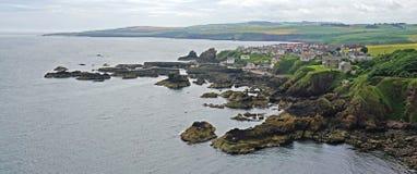 ST Abbs, Berwickshire, Σκωτία στοκ φωτογραφίες