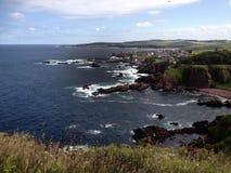 St Abbs, brazo de mar de adelante, Escocia Foto de archivo