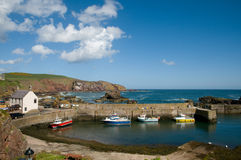 St abbs harbour and cliffs Royalty Free Stock Photos