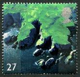St Abbs Hoofd het UK Postzegel Royalty-vrije Stock Afbeeldingen