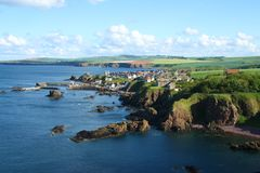 St Abbs, Northumberland  and Scottish Borders Stock Photo